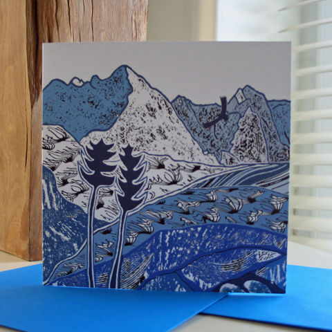 Cuillin,Eagle,-,pack,of,4,greetings,cards,Greetings cards, Cuillin eagle, cuckoo tree, Isle of Skye, Denise Huddleston, Cuckoo Tree Studio, Greetings Cards