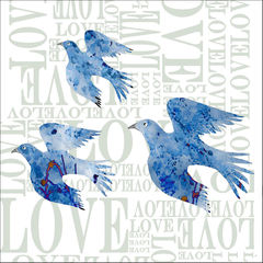 Love,Birds,-,pack,of,4,greetings,cards,Greetings cards, Love Birds, cuckoo tree, Isle of Skye, Denise Huddleston, Cuckoo Tree Studio, Greetings Cards