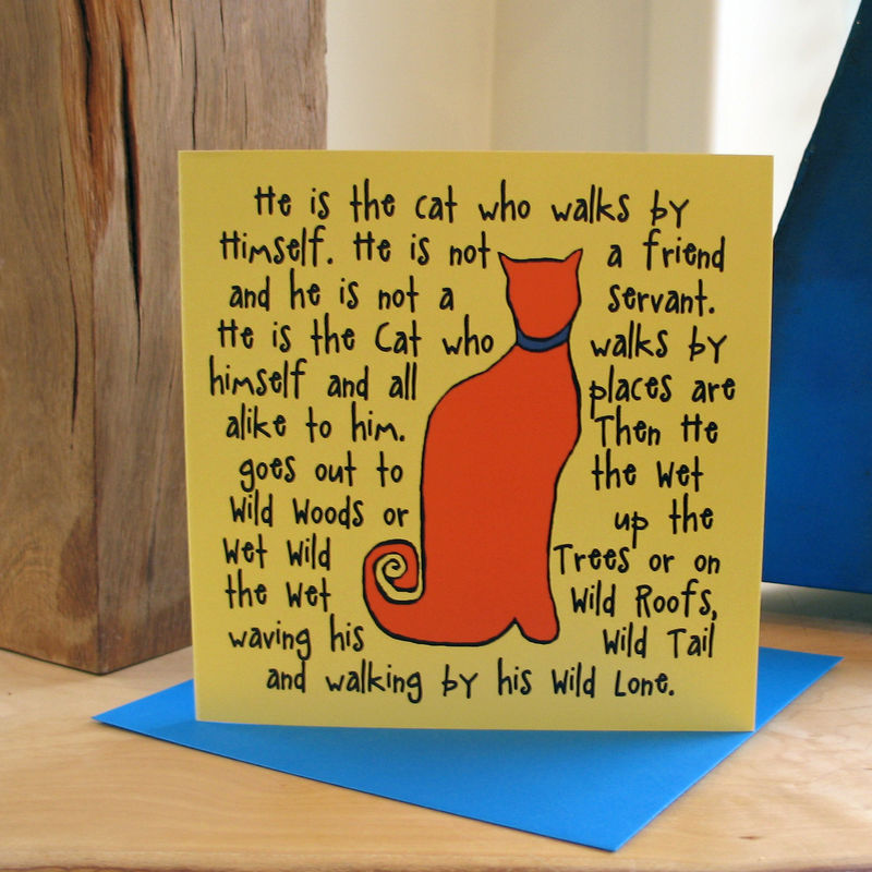 The Cat (orange) - pack of 4 greetings cards - product image