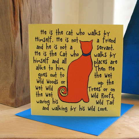 The,Cat,(orange),-,pack,of,4,greetings,cards,Greetings cards, The Cat, orange, cuckoo tree, cat card, cat, Isle of Skye, Denise Huddleston, Cuckoo Tree Studio, Greetings Cards