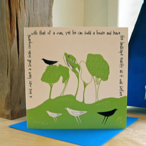 Wild,Woodland,(green),-,pack,of,4,greetings,cards,Greetings cards, Wild woodland, green, cuckoo tree, Isle of Skye, Denise Huddleston, Cuckoo Tree Studio, Greetings Cards