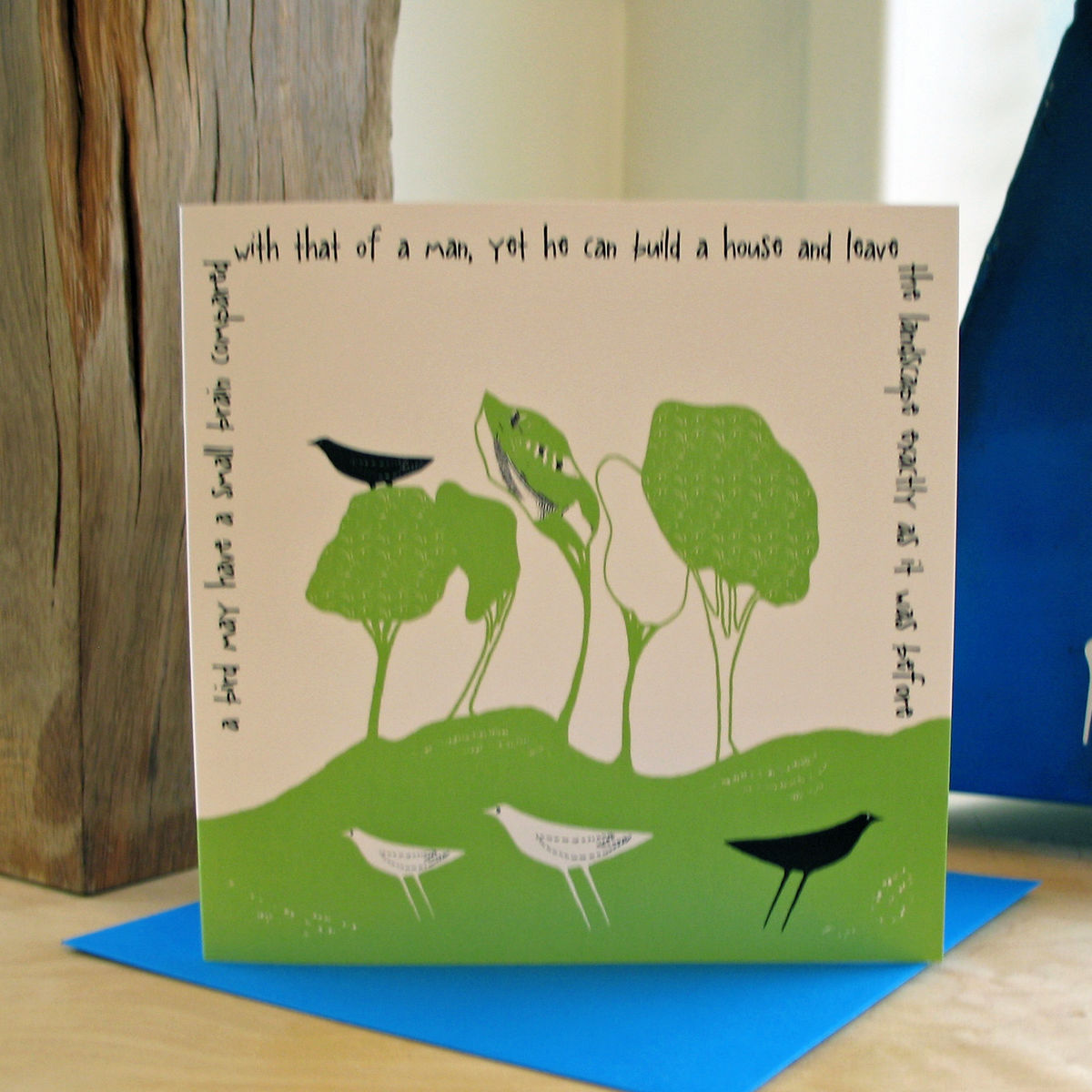 Wild Woodland (green) - pack of 4 greetings cards - product image
