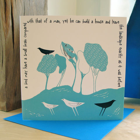 Wild,Woodland,(turquoise),-,pack,of,4,greetings,cards,Greetings cards, Wild woodland, turquoise, cuckoo tree, Isle of Skye, Denise Huddleston, Cuckoo Tree Studio, Greetings Cards