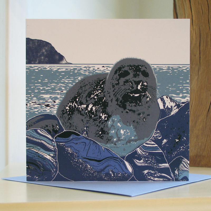 Seal - pack of 4 greetings cards - product image
