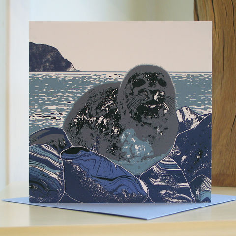 Seal,-,pack,of,4,greetings,cards,SOLD,OUT,Greetings cards, Isle of Skye, Seal, Denise Huddleston, Cuckoo Tree Studio, Greetings Cards, Coastal