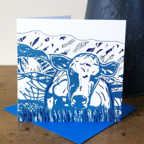 Summer,(blue),-,pack,of,4,greetings,cards,Greetings cards, Summer, blue, cuckoo tree, Isle of Skye, Denise Huddleston, Cuckoo Tree Studio, Greetings Cards