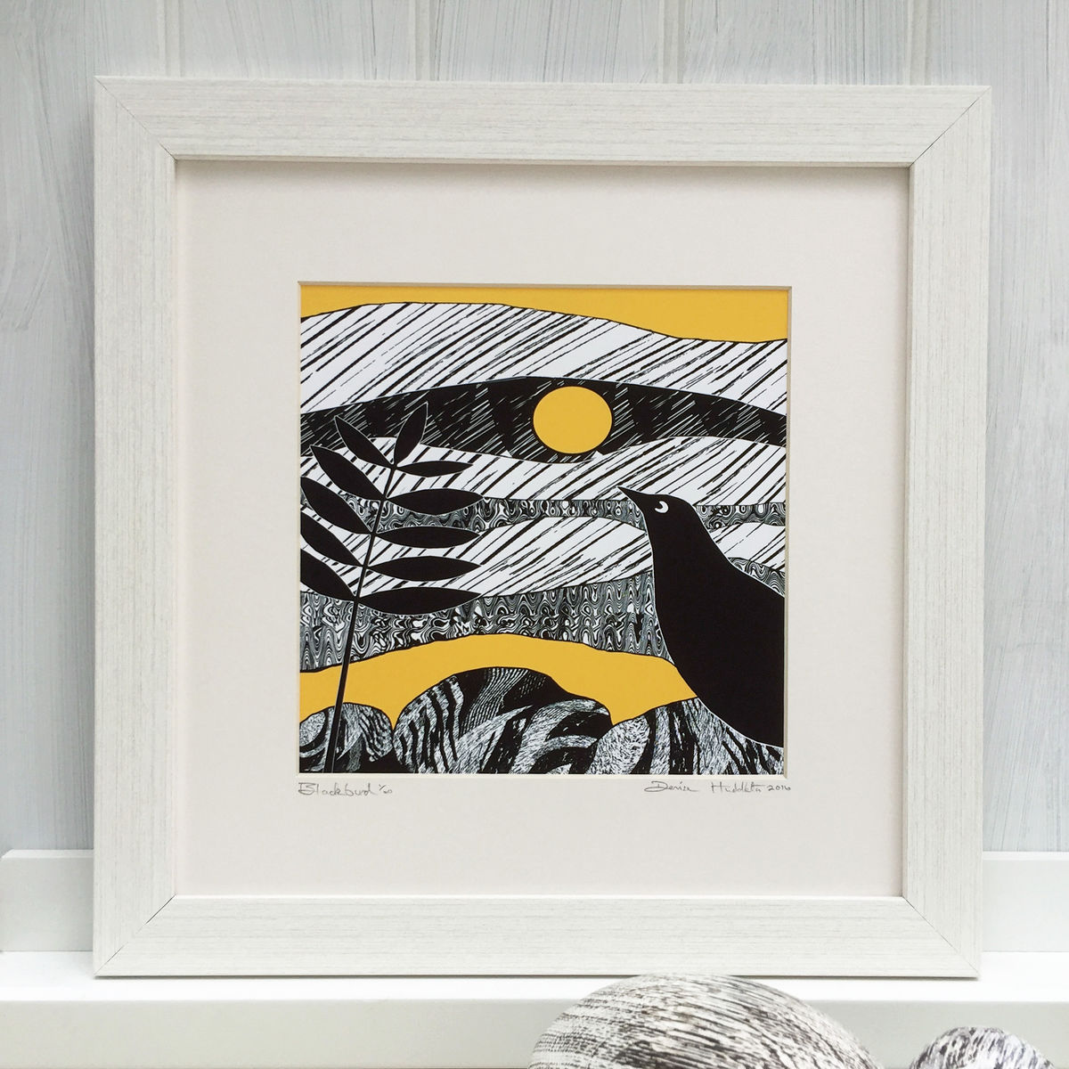 BLACKBIRD, yellow - Limited Edition Giclee Print - product images  of