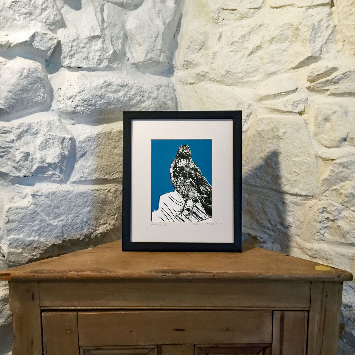 'Raven - teal' original artwork - product images  of
