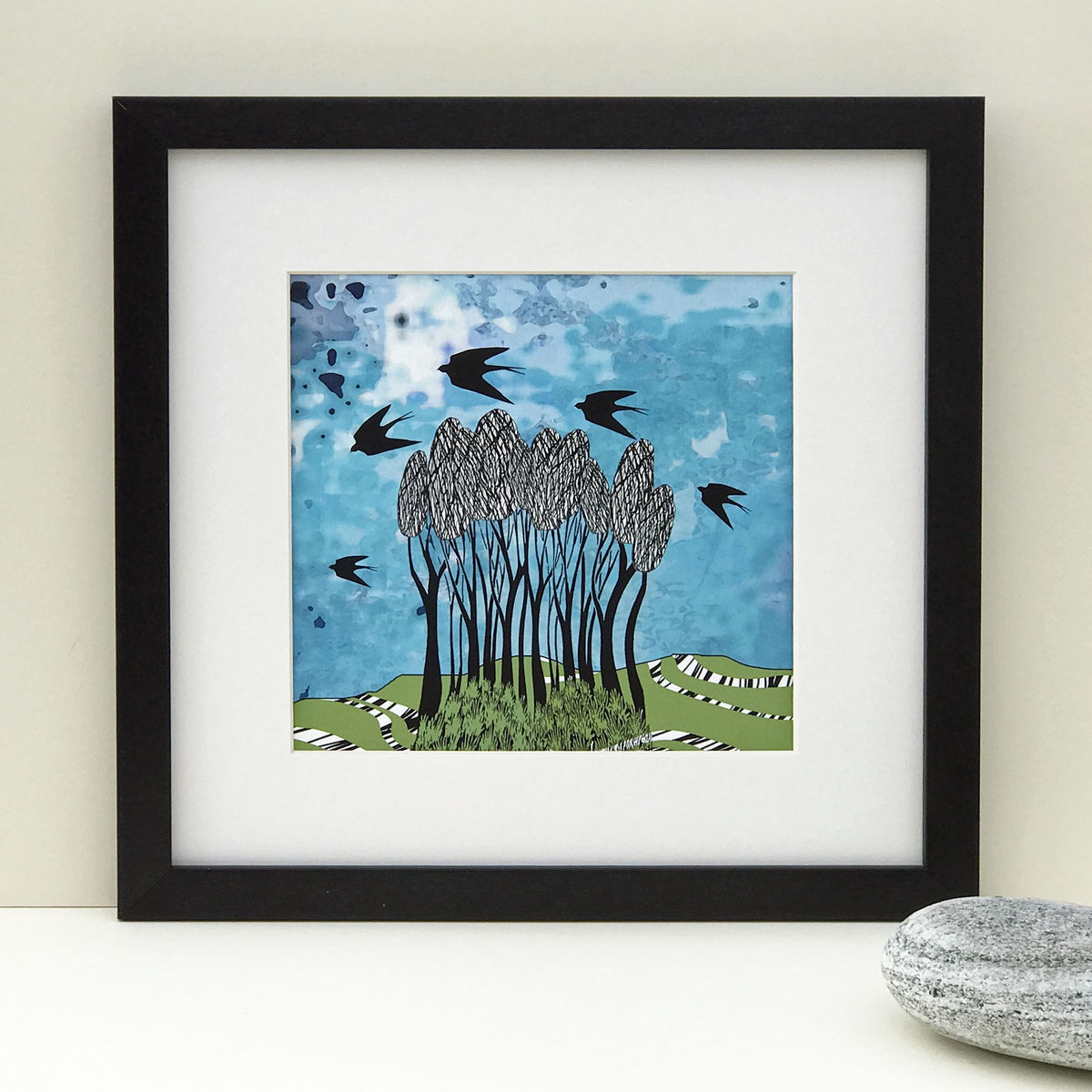 TREESCAPE, blue-green - Limited Edition Giclee Print - product images  of