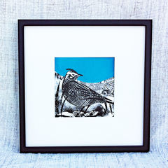 'Skylark,,teal',-,original,artwork,screenprint, original art, skylark, isle of skye, isle of skye artist, denise huddleston, cuckoo tree studio, eagle, scotland, highlands