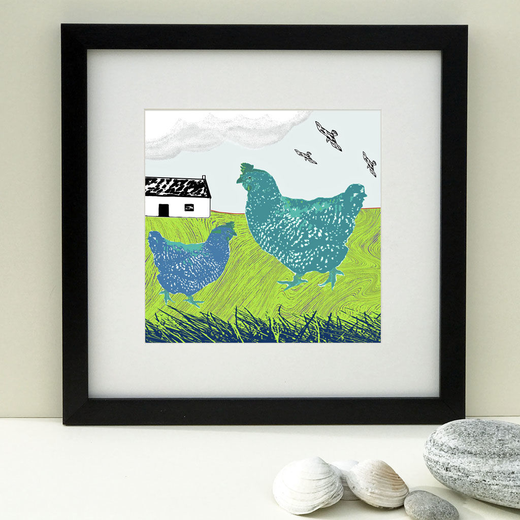 HIGHLAND HENS - Limited Edition Giclee Print - product images  of