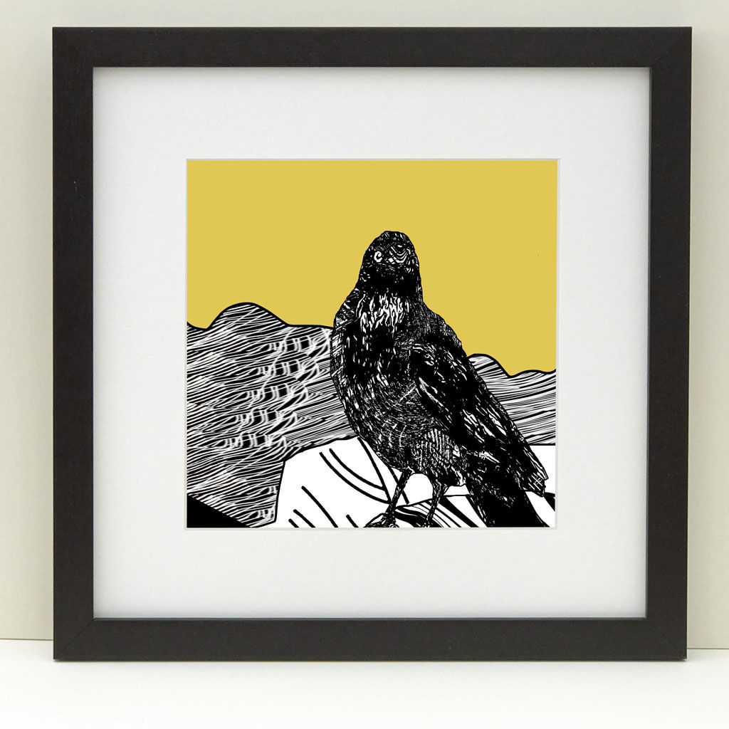RAVEN, vintage yellow - Limited Edition Giclee Print - product images  of