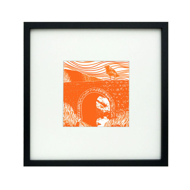 'Fairy Bridge', tangerine/flame - original artwork - product images  of