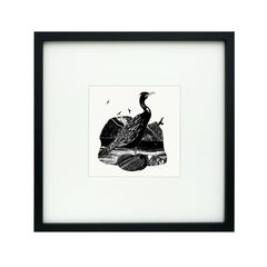 'Waterbird',original,artwork,screenprint, original art, isle of skye, scotland, highlands, denise huddleston, cormorant