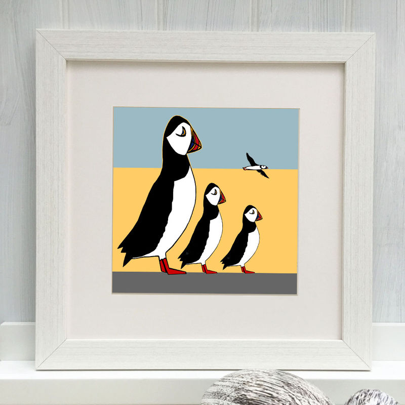 PUFFIN FAMILY - Limited Edition Giclee Print - product images  of