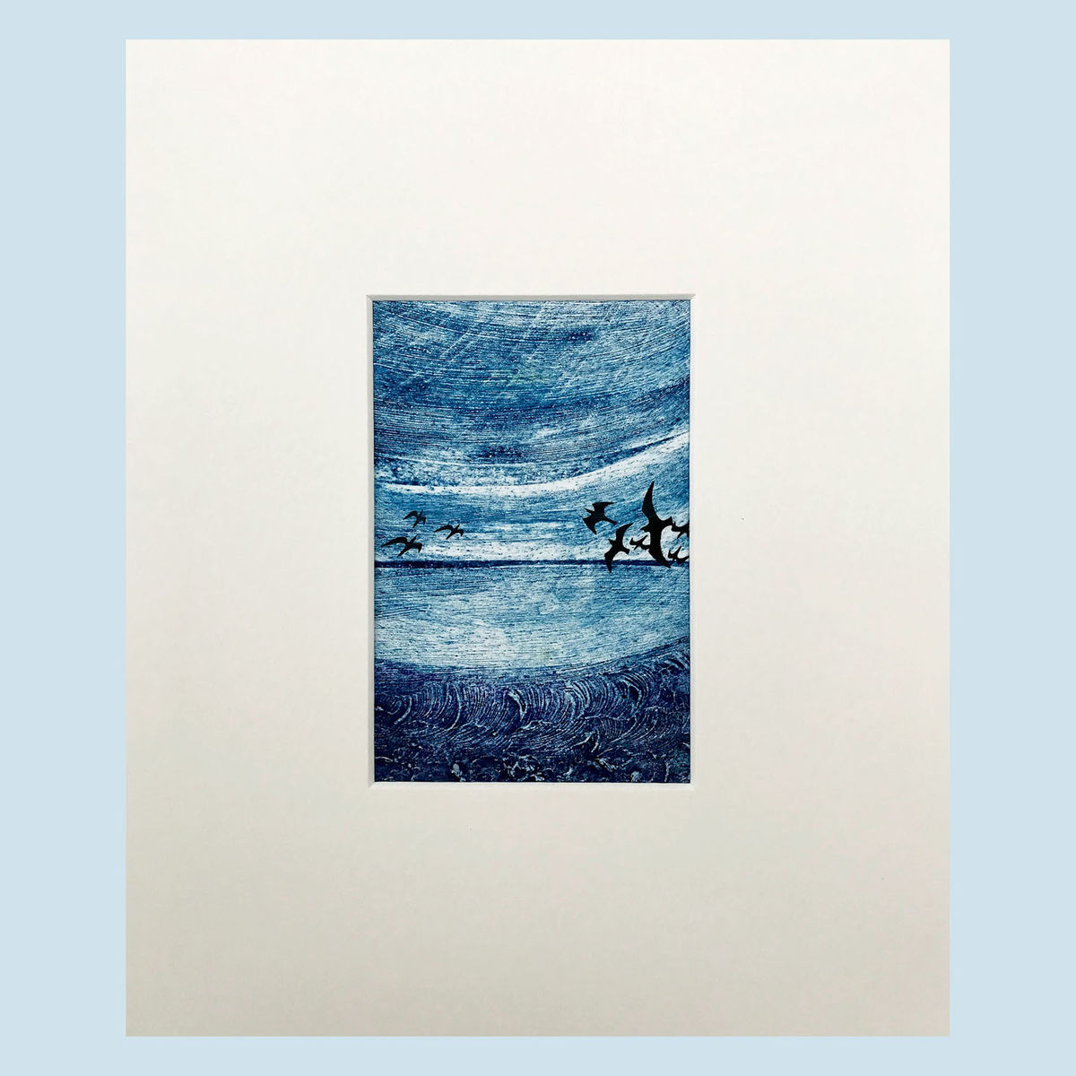'Out of the Blue' series - Collagraph (5) - product images  of
