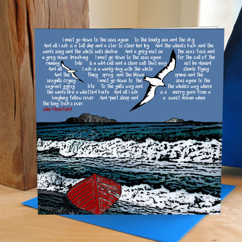 Sea,Fever,-,pack,of,4,greetings,cards,Greetings cards, Sea fever, cuckoo tree, Isle of Skye, Denise Huddleston, Cuckoo Tree Studio, Greetings Cards