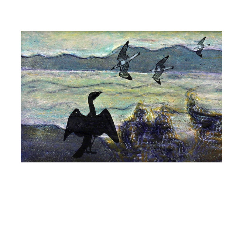 Cormorant - Collagraph  - product images  of
