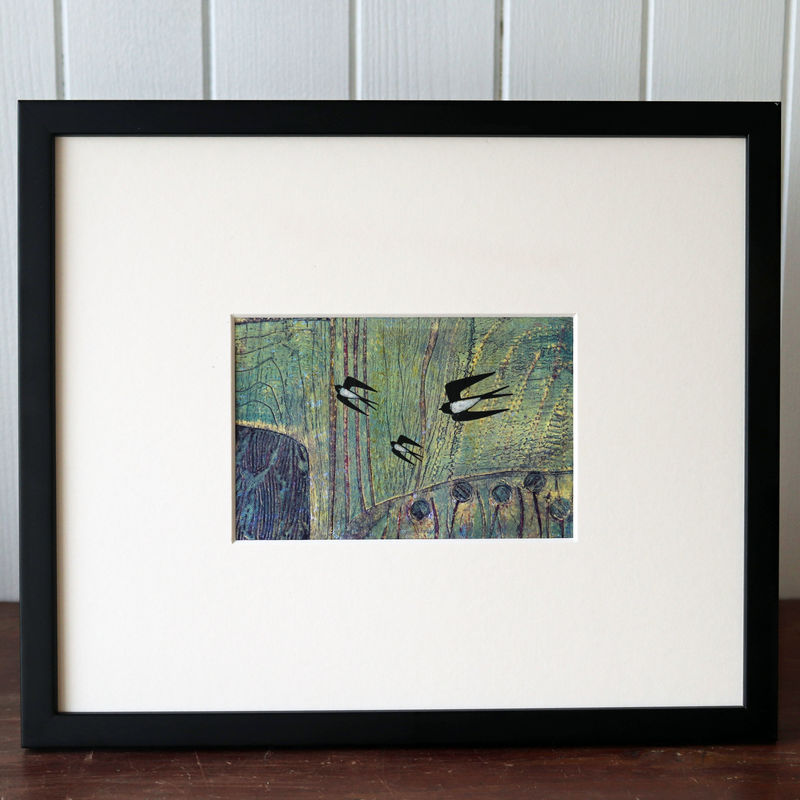 July Swallows - Collagraph  - product images  of