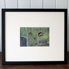 July,Swallows,-,Collagraph,collagraph, screenprint, birds, original art, coastal art, isle of skye, scotland, highlands, denise huddleston
