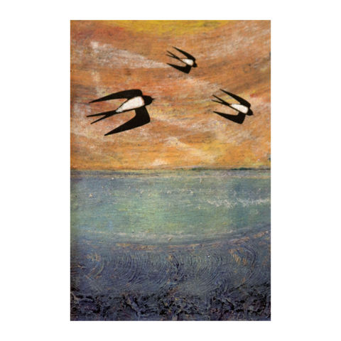 Swallows,-,Collagraph,collagraph, screenprint, birds, original art, coastal art, isle of skye, scotland, highlands, denise huddleston