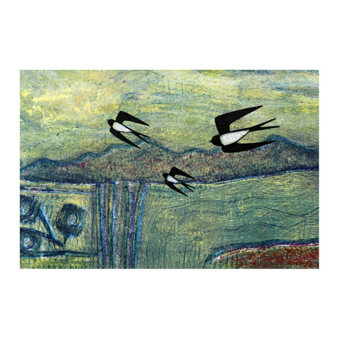 August,-,Collagraph,collagraph, screenprint, birds, original art, coastal art, isle of skye, scotland, highlands, denise huddleston