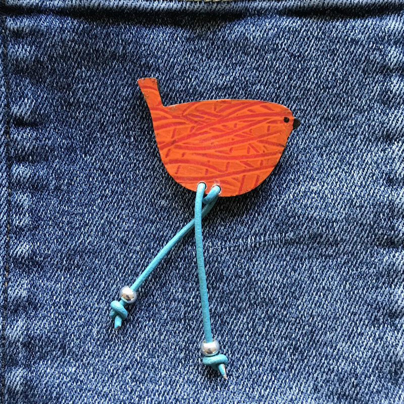 'Woody' Bird Brooch 2. - product image