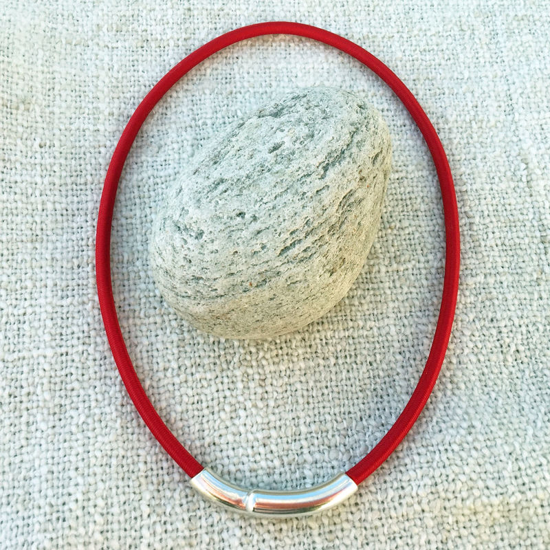 Island Collection - Red textile necklace - product images  of