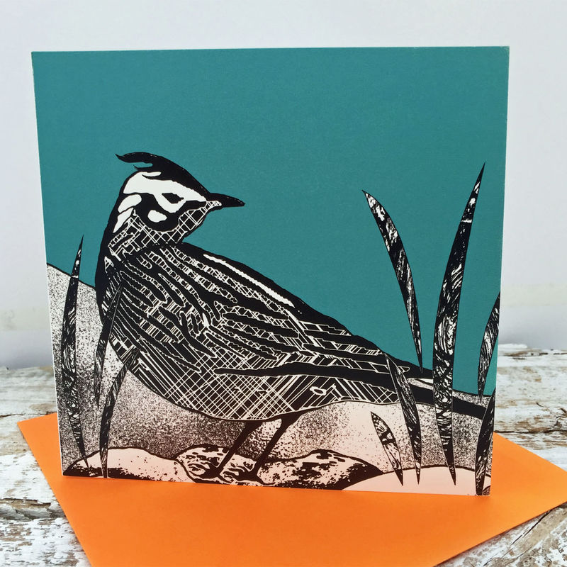 Skylark (teal) - pack of 4 greetings cards - product image