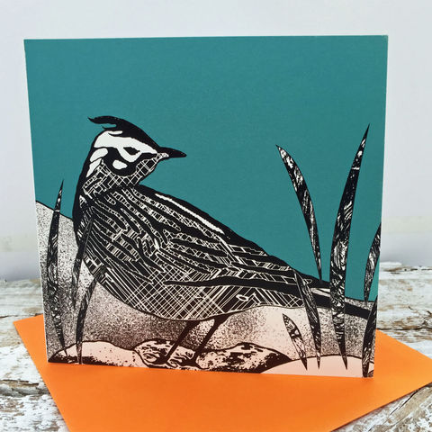 Skylark,(teal),-,pack,of,4,greetings,cards,Greetings cards, skylark, cuckoo tree, Isle of Skye, Denise Huddleston, Cuckoo Tree Studio, Greetings Cards, green,