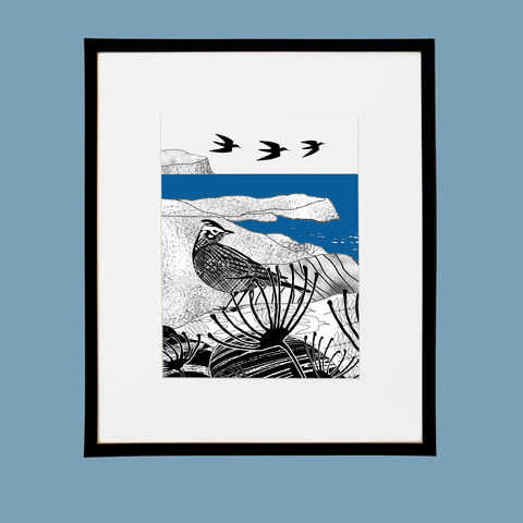 'Ardmore,Skylark',-,original,artwork,screenprint, original art, skylark, isle of skye, ardmore,, scotland, highlands