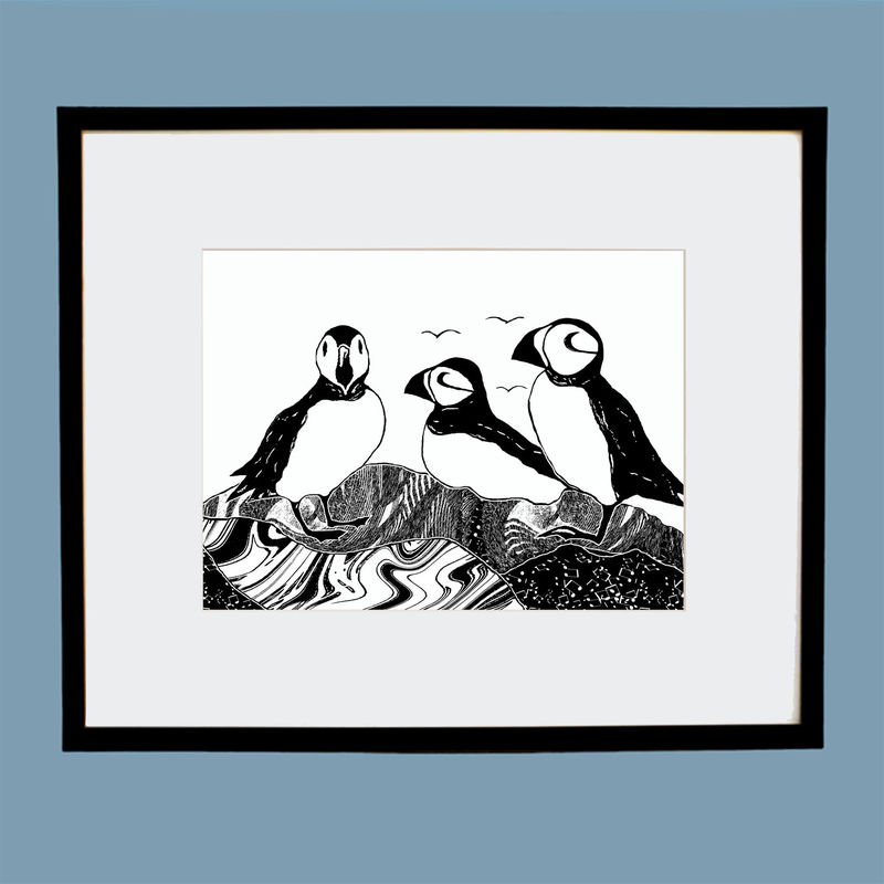 'Puffins' original artwork - product image
