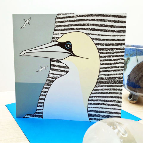 The,Diver,-,pack,of,4,greetings,cards,Greetings cards, gannets, gannet cards,Isle of Skye, Denise Huddleston, Cuckoo Tree Studio, Greetings Cards, Coastal