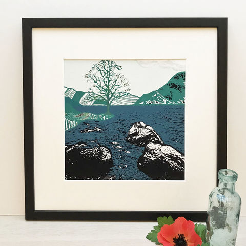 BY,THE,WATER,-,blue.,Limited,Edition,Giclee,Print,giclee print, highlands, isle of skye, loch, cuckoo tree, cuckoo tree studio, denise huddleston