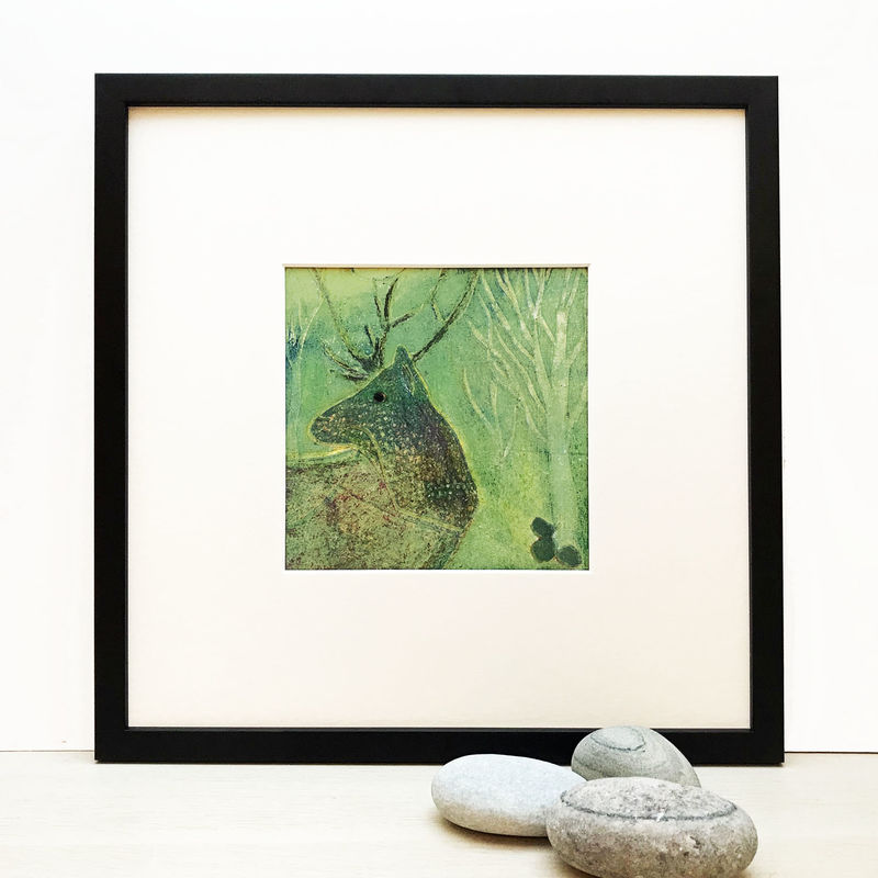 Red Deer 2  - Collagraph  - product image