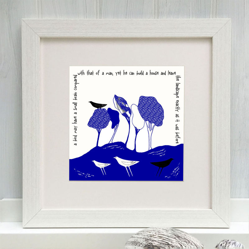 WILD WOODLAND - cobalt blue - Limited Edition Giclee Print - product images  of