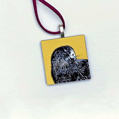 'Otter',Pendant,-,yellow,Skye, otter pendant, yellow pendant,Isle of Skye, jewellery, Gifts under £20.00, affordable, inexpensive, handmade gift, handmade craft, necklace, pendant, cuckoo tree, denise huddleston, isle of skye jewellery, fun, wooden