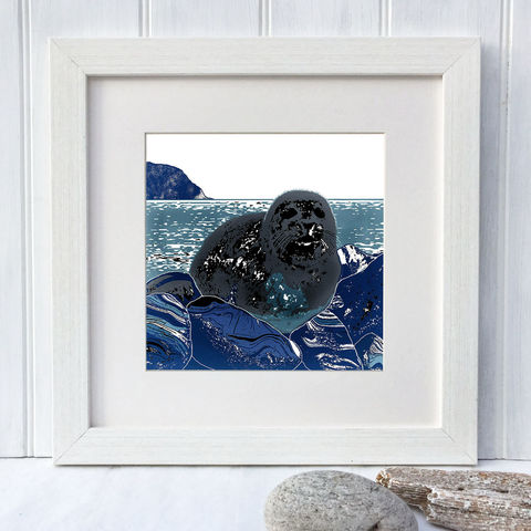 SEAL,-,Limited,Edition,Giclee,Print,giclee print,art print,cuckoo tree studio,denise huddleston,isle of skye, scottish art,skye art,seal
