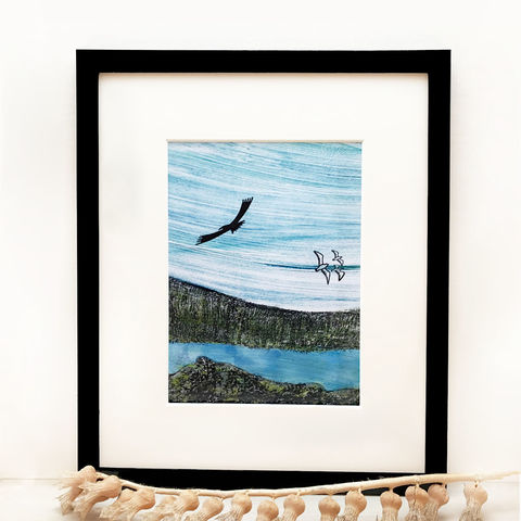 Lochbay,Friday,-,Limited,Edition,Giclee,Print,giclee print,art print,cuckoo tree studio,eagle,waternish, lochbay, denise huddleston,isle of skye, scottish art,wildlife art, isle of skye art
