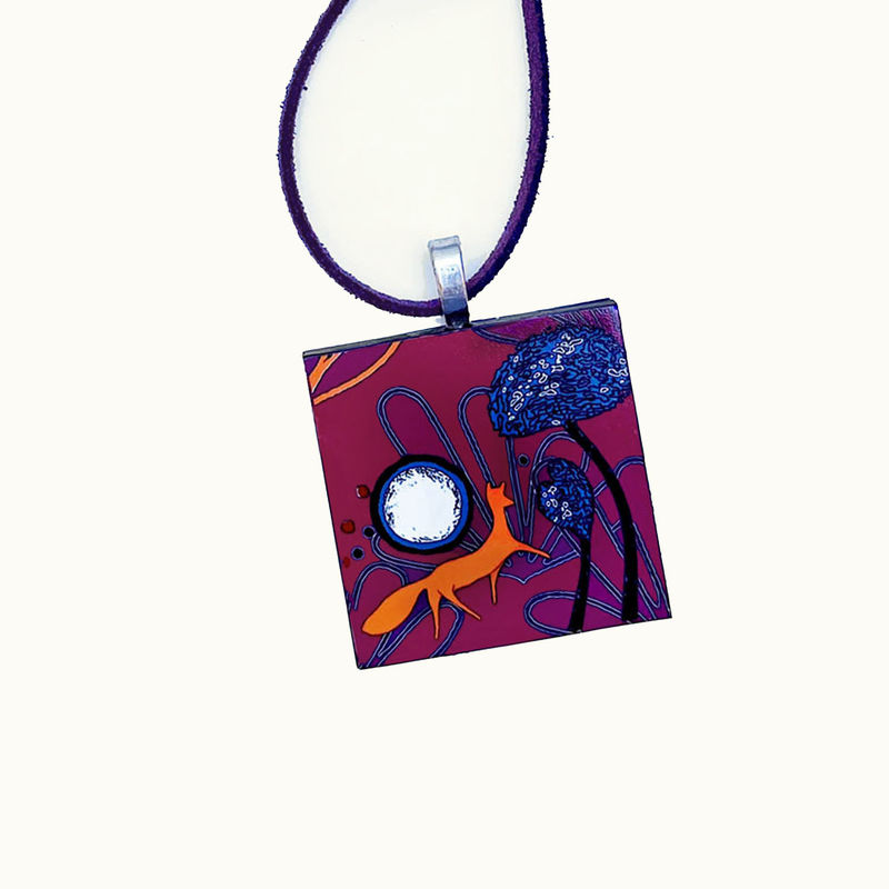 'Fox on the Hill' - Pendant - product images  of