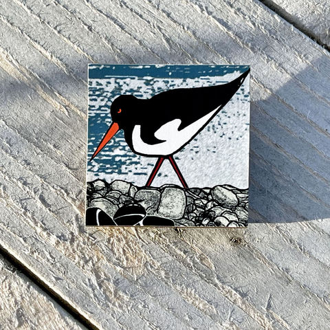 Oystercatcher,Brooch,Skye, Isle of Skye, jewellery, Gifts under £20.00, inexpensive, handmade gift, handmade craft, brooch, denise huddleston, isle of skye jewellery, fun, oystercatcher, wooden