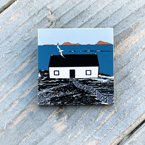 'Skye,Cottage',-,Brooch,Skye, Isle of Skye, jewellery, Gifts under £20.00,inexpensive, handmade gift, handmade craft, brooch, denise huddleston, isle of skye jewellery, fun, wooden