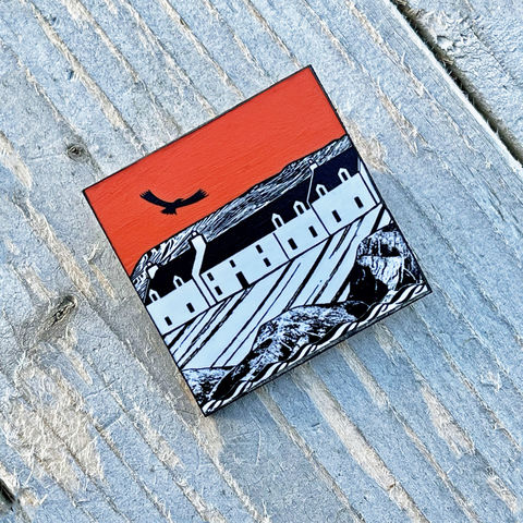'Island,Inn',Brooch,-,flame,Skye, Isle of Skye, jewellery, Gifts under £20.00, eagle, inexpensive, island inn, handmade gift, handmade craft, brooch, denise huddleston, isle of skye jewellery, fun, Oystercatchers, wooden