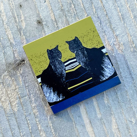 'Daydreams',Cat,Brooch,Skye, Isle of Skye, jewellery, Gifts under £20.00, cats, inexpensive, handmade gift, handmade craft, brooch, denise huddleston, isle of skye jewellery, fun, wooden