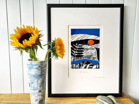 'Blackbird',-,original,artwork,screenprint, original art, blackbird, eagle, scotland, highlands