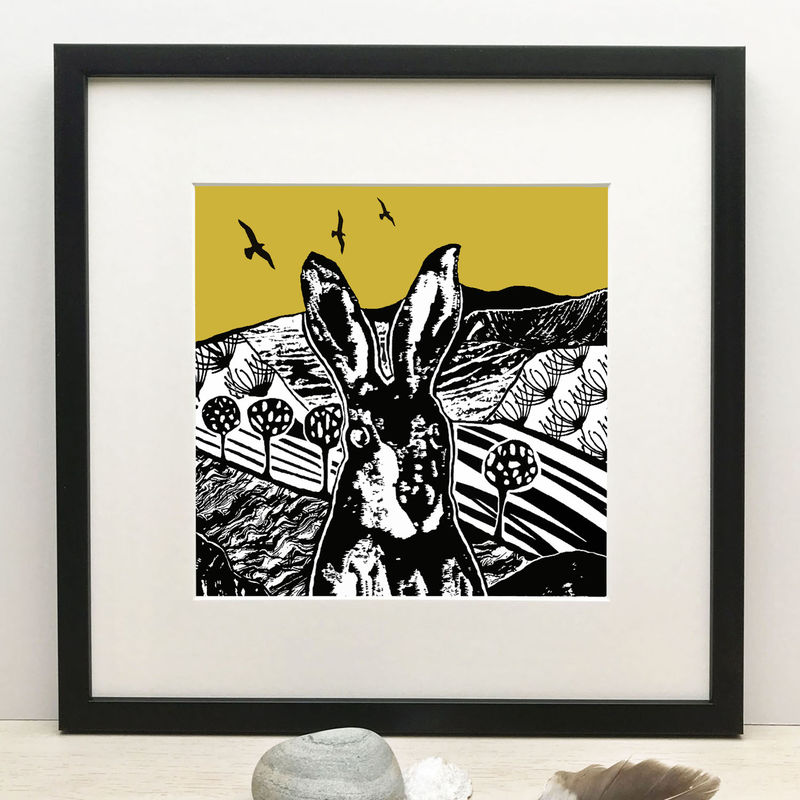 CROFT HARE - vintage yellow.  Limited Edition Giclee Print  - product images  of