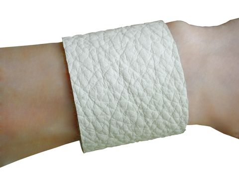 Wide pebbled leather cuff - product images  of