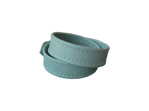 Basic,wrap,lambskin,stud,bracelet,,stitched,,powder,blue,leather bracelets for men,fashion accessories for women,fashion accessories for men,high end fashion accessories,luxury leather,luxury fashion accessories,leather cuff bracelets for women,powder blue,summer jewelry,basic fashion,baby blue leather,handmade
