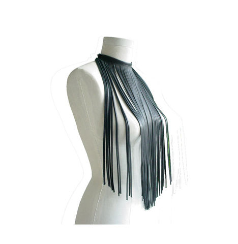 Minimalist,Hippie,Long,Leather,Fringe,Necklace,Choker,Mano Bello leather,leather fringe,fringe choker,leather fringe necklace,dark brown necklace,brown leather scarf,fringe scarf,leather scarf,minimalist hippie,minimalist fashion,minimalist accessories,trending fashion,fashion accessories