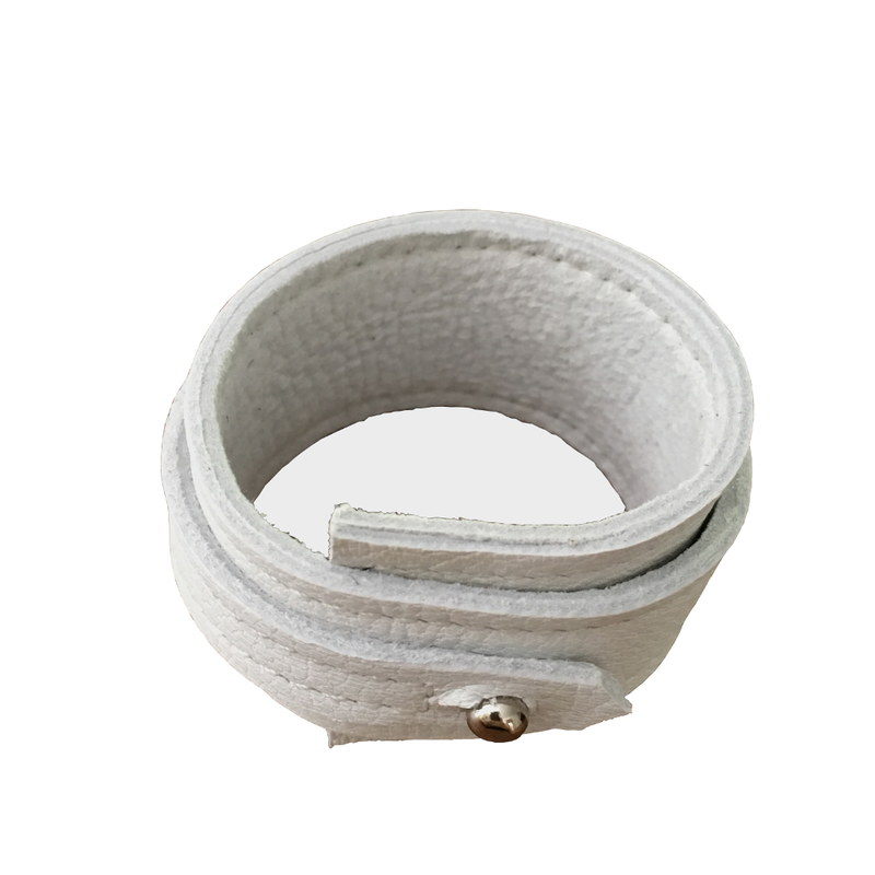 Layered wedge bracelet, chalk goatskin - product images  of
